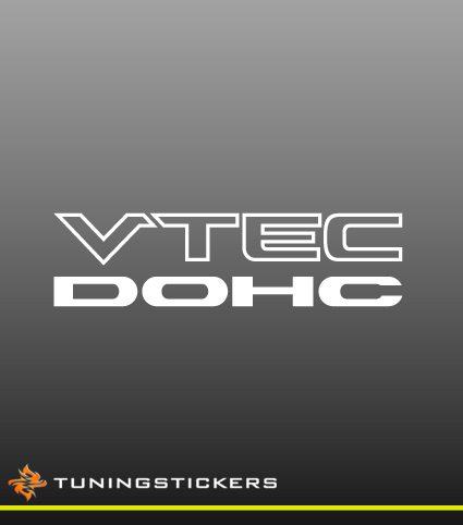 Honda VTEC DOHC (080) | TuningStickers.nl Honda Dohc Vtec Logo