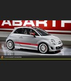 (B) Fiat Abarth striping set 10x178.5 cm