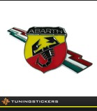 Abarth +  vlag badge