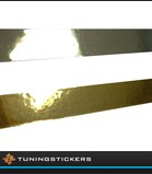 (Q) Striping Chrome or Gold 6 mm