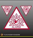 Alarm stickers 3 pieces