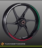 (004) GP Rimstriping Red White Green