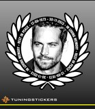 Paul Walker stickers