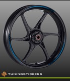(015) Wheel strips Blue