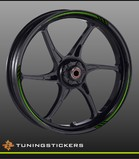 (018) Wheel strips Green