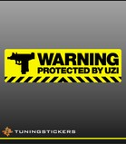 Warning protected by uzi FC (9146)