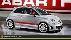 (B) Fiat Abarth striping set 10x195 cm